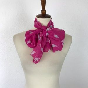 Fantas Eyes Cat with Bow Sheer Scarf AC7
